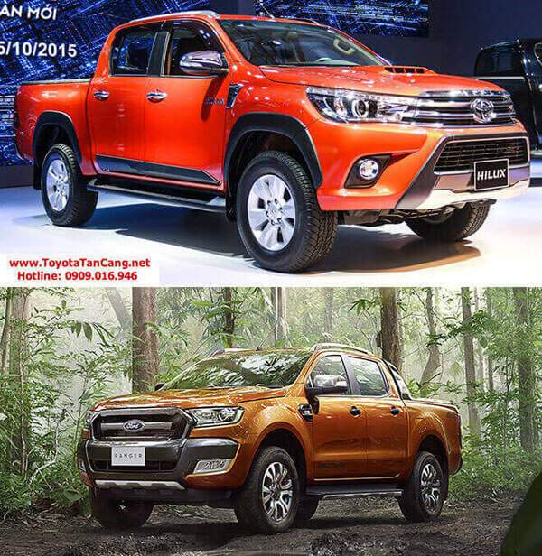so sanh hilux va ranger