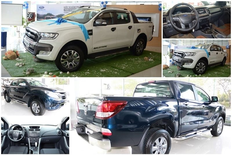 so sanh ford ranger va mazda bt50