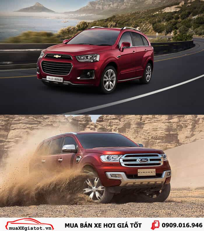 ford everest vs chevrolet captiva 1 -  - So sánh Ford Everest và Chevrolet Captiva tại Việt Nam