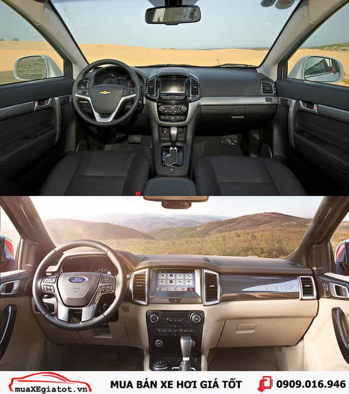 ford everest vs chevrolet captiva 3 -  - So sánh Ford Everest và Chevrolet Captiva tại Việt Nam