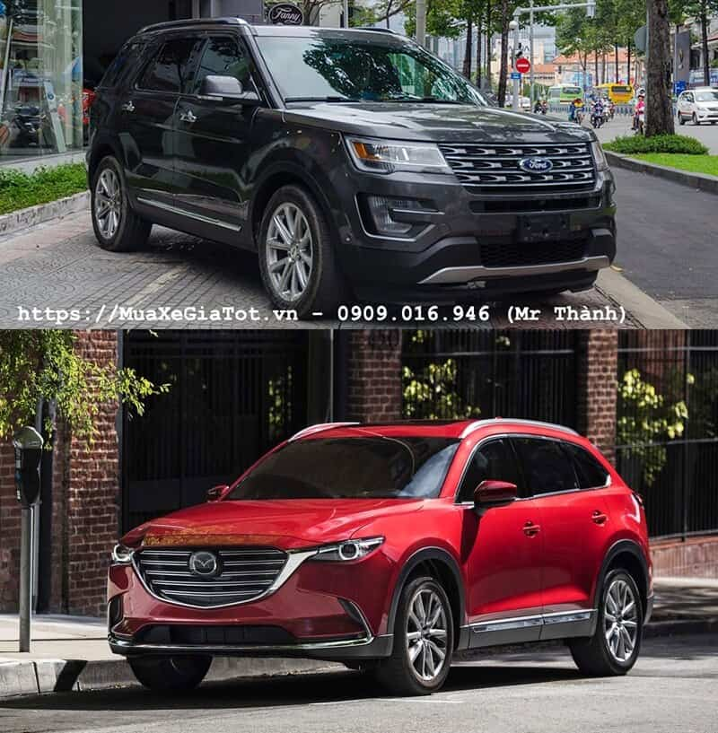 so sanh ford explorer va mazda cx9 tai viet nam