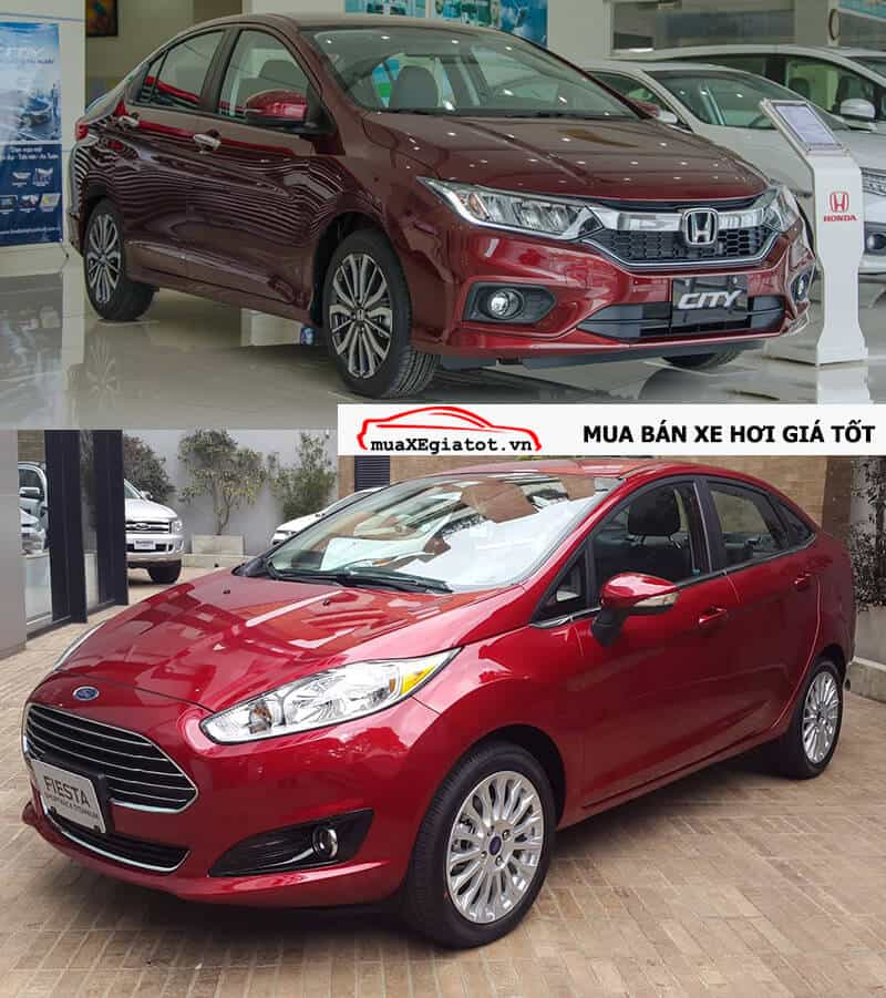 So sánh Honda City và Ford Fiesta 2017