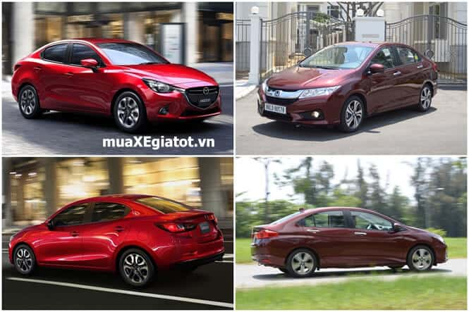 so sanh ve van hanh mazda2 sedan va honda city 2017