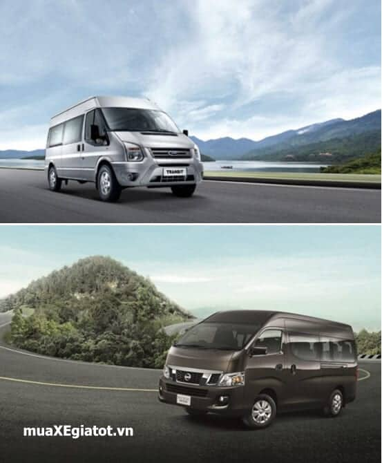 so sanh ford transit va nissan nv350