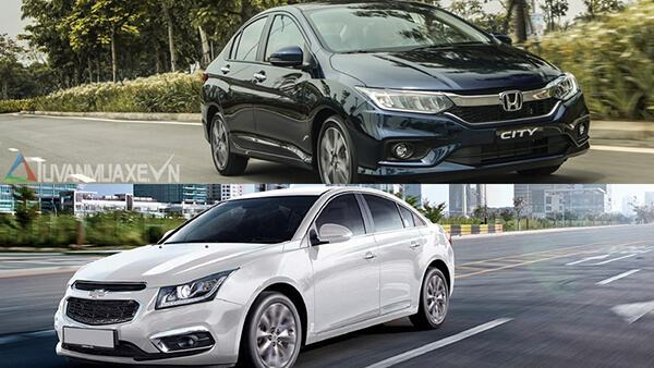 So sánh Chevrolet Cruze và Honda City 2018