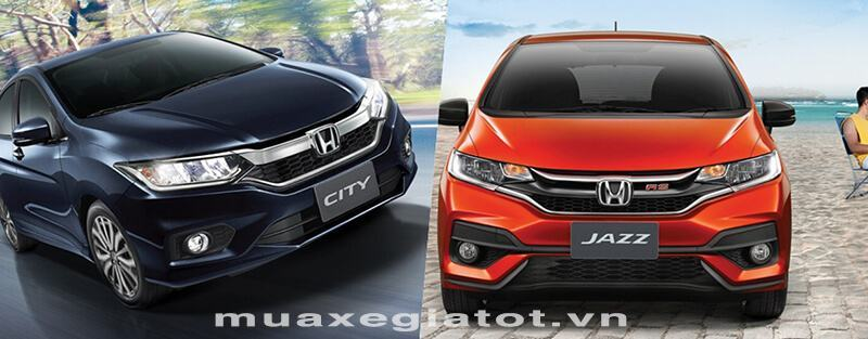 so sanh honda city 2018 va honda jazz 2018